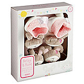Tesco wrist rattle & booties gift set, Betsy