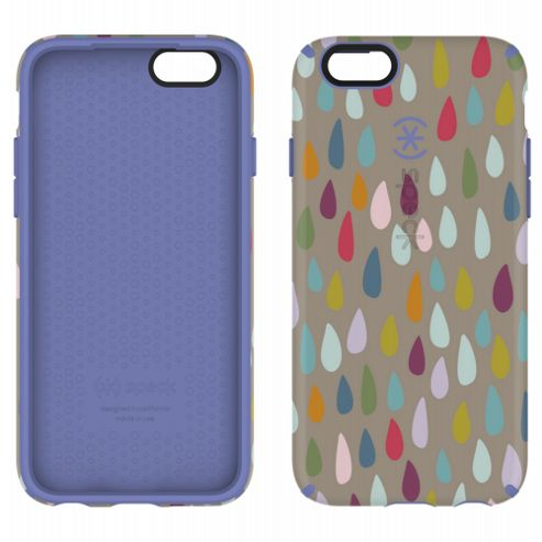 Speck iPhone 6 4.7 CandyShell Inked Rainbow Drop Pattern/Beaming Orchid Purple