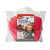Clippasafe Secure-Belt Travel Pillow for Cars - in Pink (8 Yrs+)