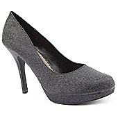 Emilio Luca X Red Ladies Glitter Ball Black Court Shoes - Black