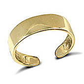 Jewelco London 9ct Solid Gold flat style Toe Ring