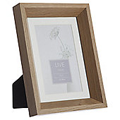"Tesco Solid Oak Photo Frame 5 x 7""/4 x 6"" with Mount"