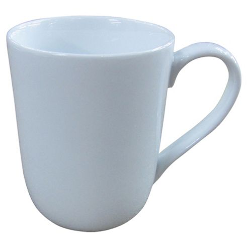 Tesco Set of 4 Porcelain Mugs, White