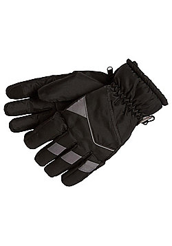 """F&F Touch Screen Ski Gloves with Thinsulateâ""""¢ Platinum - Black"""