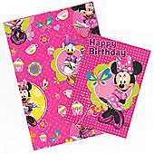 Gem Minnie Wrapping Paper, Birthday Card and Gift Tags Pack