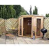 Mercia Garden Products Premier Corner Summerhouse with Double Door - 209 cm H x 246 cm W x 246 cm D