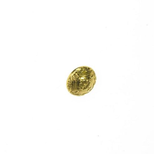 Buttons 18mm - Domed Centre Flower Gold