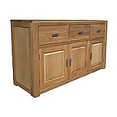 Home Zone Furniture Churchill Oak 2010 Three Drawer / Three Door Sideboard in Natural Oak