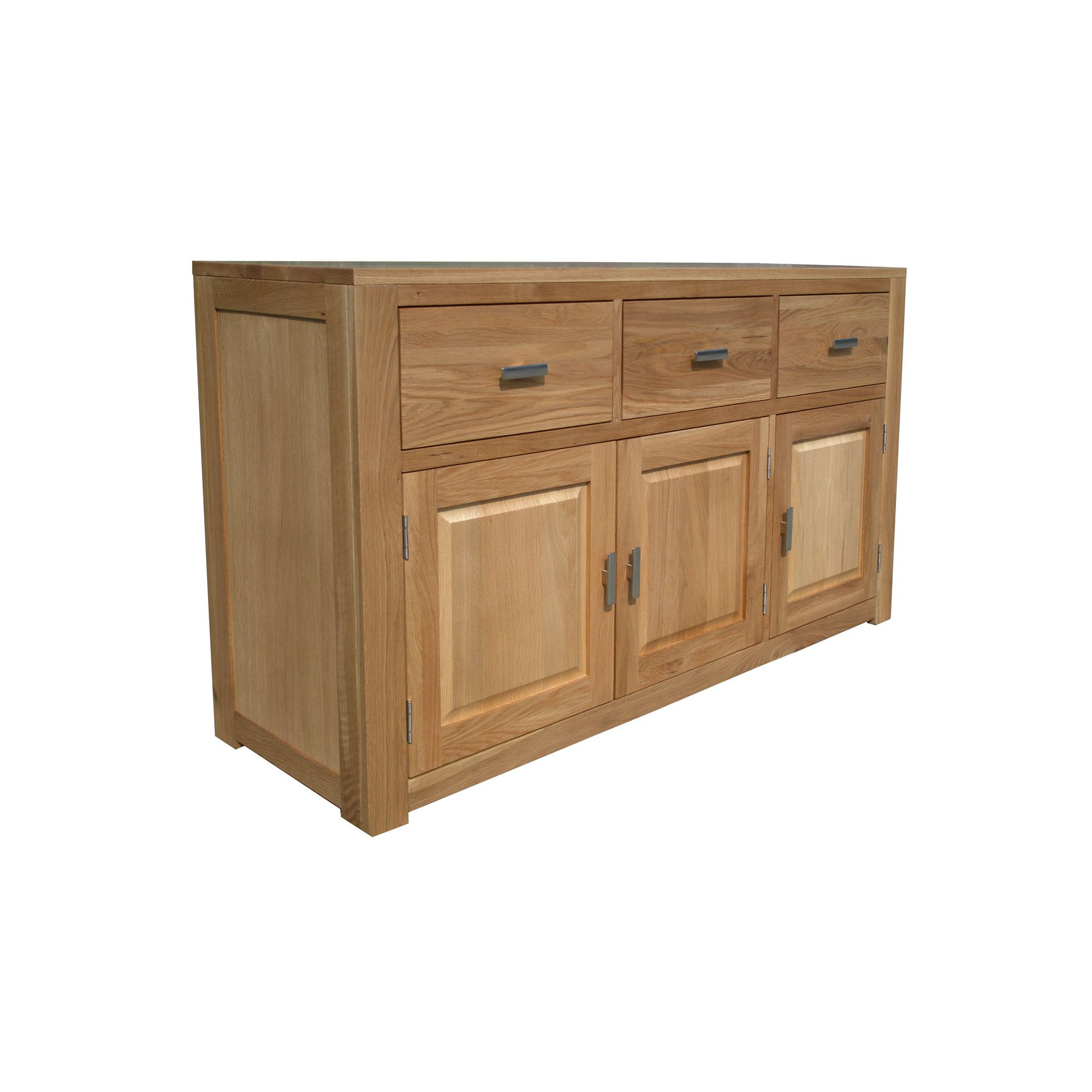 Home Zone Furniture Churchill Oak 2010 Three Drawer / Three Door Sideboard in Natural Oak at Tesco Direct