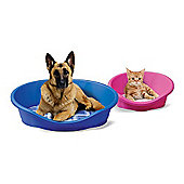 Imac Dido Plastic Dog / Cat Bed in Pearl Blue - 50cm W