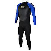 TWF Full wetsuit 2.5mm Black/Blue Age 11/12