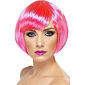 Bob Wig (Neon Pink)