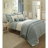 Catherine Lansfield Classique Single Bed Quilt Set Duck egg