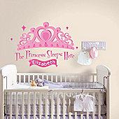 Princess Sleeps Here Girls Bedroom Decal