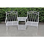 Antique White Love Seat