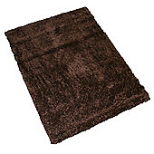 Pharmore Ltd Chocolate Woven Shaggy Rug