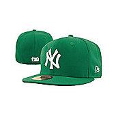 New Era Cap Co MLB Basic NY Yankees New Era Cap - Kelly Green/White Size: 7 1/8 inch