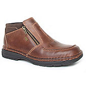 Rieker Mens Ryley Brown Casual Ankle Boots