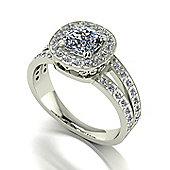 Charles and Colvard 18 ct White Gold Moissanite Ring