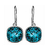 Sterling Silver Blue Indicolite Swarovski Crystal Earrings