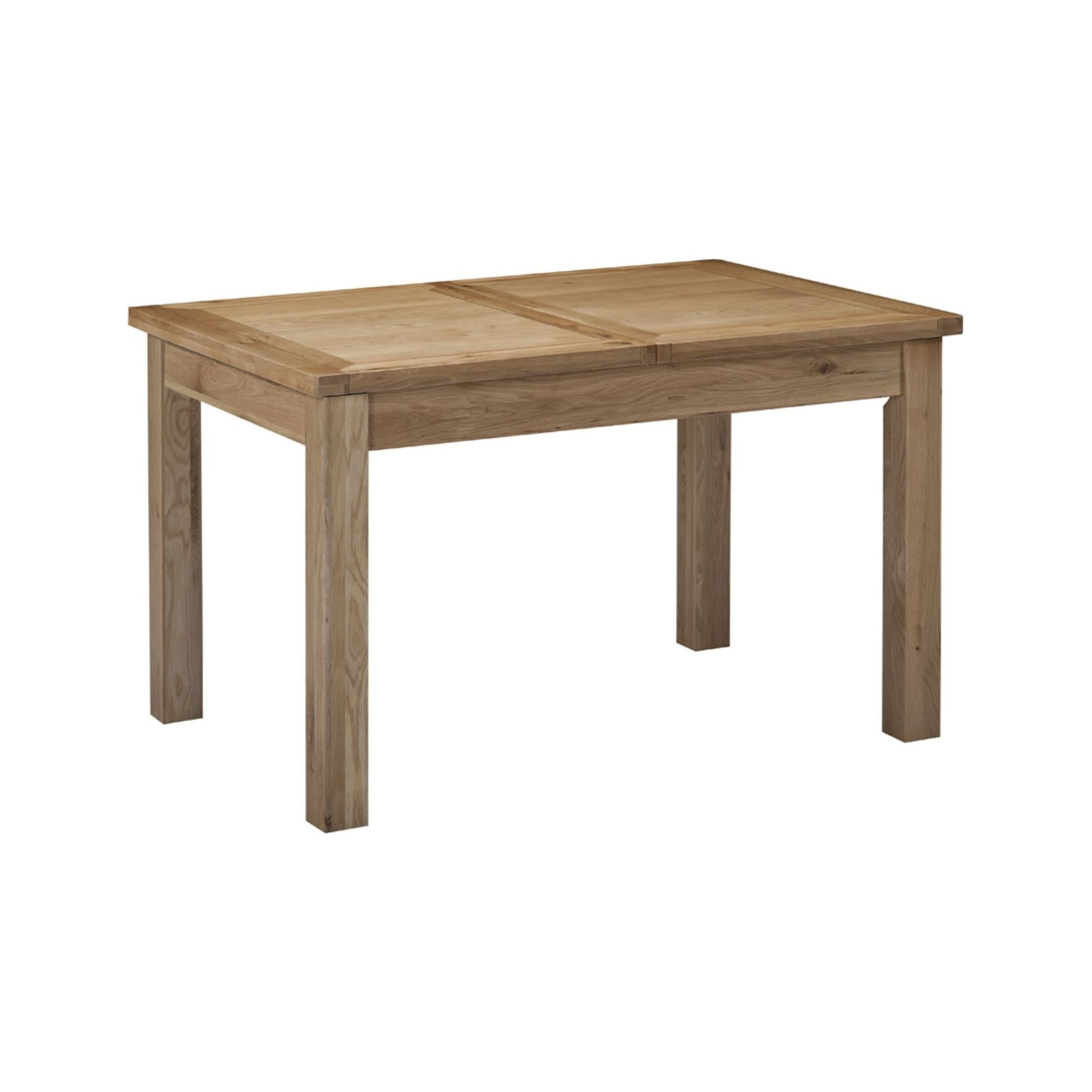 Kelburn Furniture Lyon Small Extending Dining Table in Light Oak Matt Lacquer