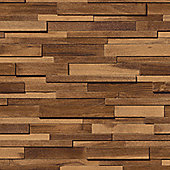 Muriva Thin Wood Blocks Wallpaper - Sand