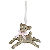 Glitter Bambi Christmas Tree Decoration