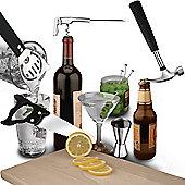 DIY Man Bar Tool Box Cocktail Set Bottle Opener, Citrus Cutter, Corkscrew Drinks Strainer