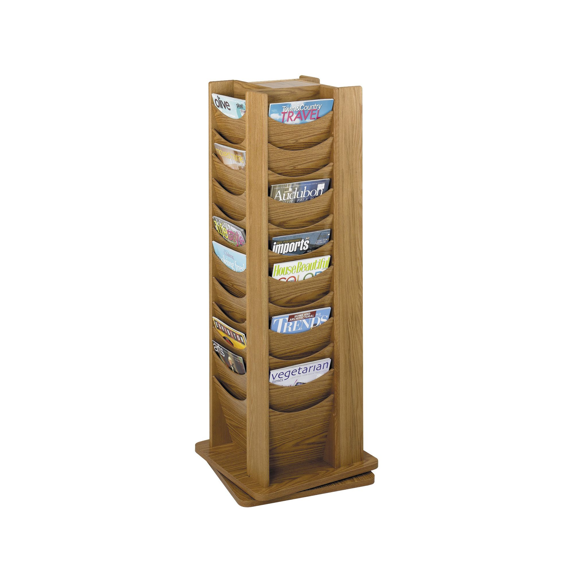 Safco Rotating Solid Wood Display Pocket in Medium Oak at Tesco Direct