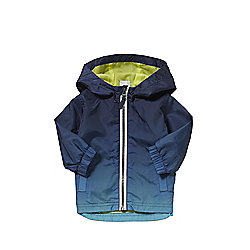F&F Dip Dye Hooded Mac 03 - 06 months Blue