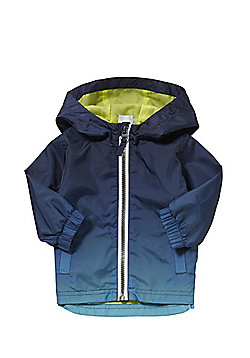 F&F Dip Dye Hooded Mac - Blue