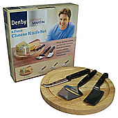 Denby James Martin 4 Piece Cheese Set