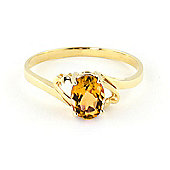 QP Jewellers 0.90ct Citrine Classic Desire Ring in 14K Gold