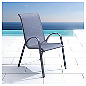 Seville Metal Textilene Stacking Chair  Charcoal