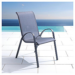 Buy Seville Metal Waterproof Woven Textile Stacking Chair
