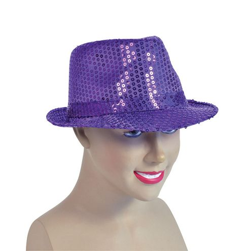 Sequin Fedora Purple