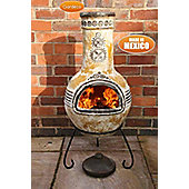 Large Azteca Mexican Chimenea in Yellow