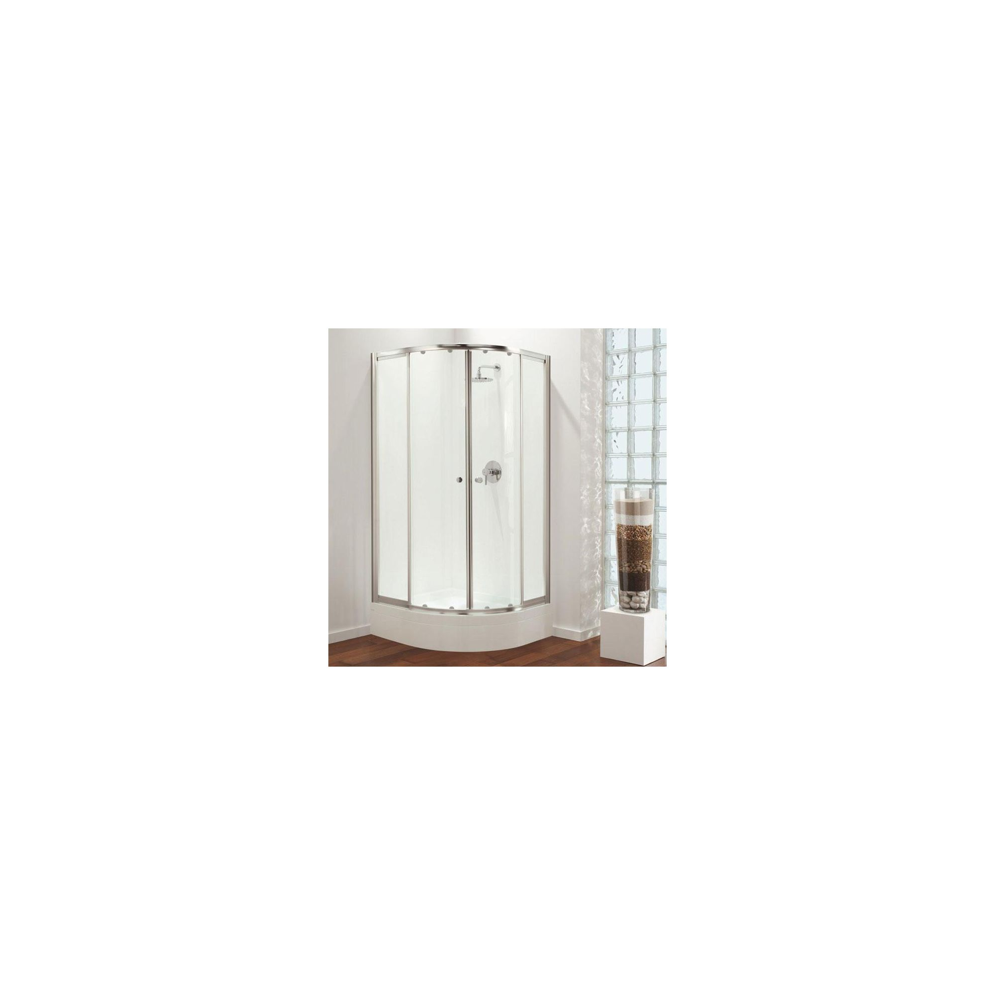Coram GB Quadrant Shower Door and Frame 900mm x 900mm (including Riser Shower Tray) at Tesco Direct