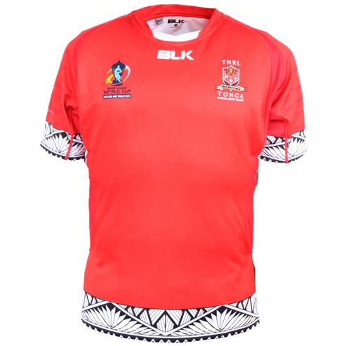 Official Tonga Blk Rugby League World Cup 2013 Team Rugby Jersey Shirt - Red