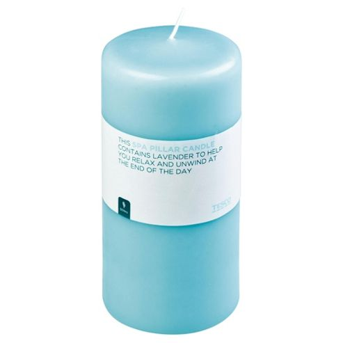 Tesco Pure Spa Pillar Candle 170X80