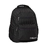 Head Pinstripe Black Backpack Padded Adjustable Shoulder Straps
