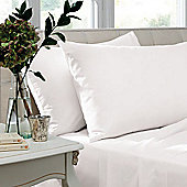 Catherine Lansfield Non Iron Percale Combed Poly-Cotton Flat Sheets in White - Super King