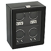 Wolf Designs Watch Winder with Cover - 33 cm H x 26.9 cm W x 16.5 cm D