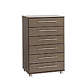 Ideal Furniture New York Six Drawer Chest - Gloss Black