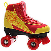 NEW Luscious Retro Quad Disco Roller Skates - Girls Boys Adult Size Jnr 11 UK 10 - Red