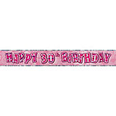 Dazzling Effects 30th Birthday Banner (each)