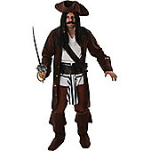 Adult Men's Pirate Fancy Dress Costume Extra Large
