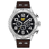 CAT Mens Leather 24 hour Day & Date Watch NH.149.35.131
