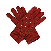 Rust Red Bow and Gem Gloves
