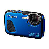 Canon PowerShot D30 Camera Blue 12.1MP 5xZoom 3.0LCD FHD 28mm Wide Wtprf 25m GPS